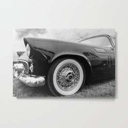 Vintage Black Car Metal Print
