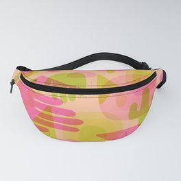 Colorful Cutout Print Fanny Pack