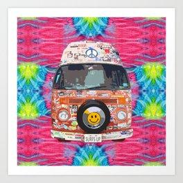 Groovy Hippie Van Kunstdrucke