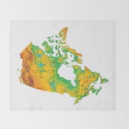 Physically Canada Throw Blanket