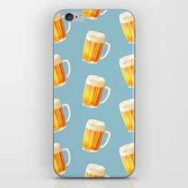 Ice Cold Beer Pattern iPhone Skin