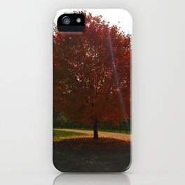 Roaring Red Tree iPhone Case