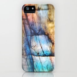 Labradorite Macro iPhone Case