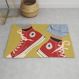 Red Converse Sweet Kicks Rug