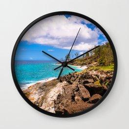 Vacation on the Shore Wall Clock