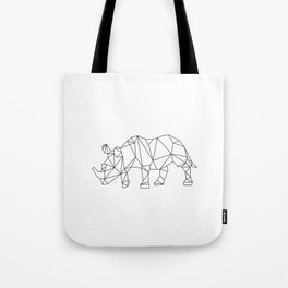 Geometric Rhino Design Tote Bag