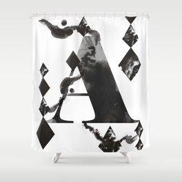 A alphabet Shower Curtain
