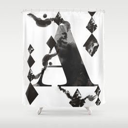 A alphabet Shower Curtain