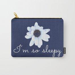 Sleepy African Daisy Flower Carry-All Pouch