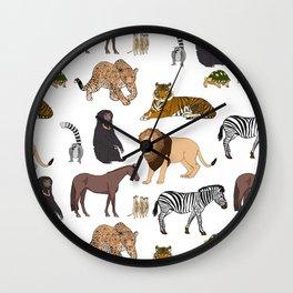 Wild Animals (original) Wall Clock