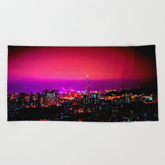 City Skyline Beach Towel