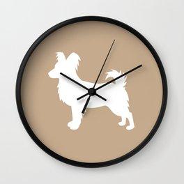 Papillion (Tan/White) Wall Clock
