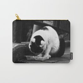 Happy Neko Eating Carry-All Pouch
