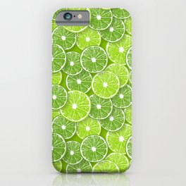 Lime pop iPhone Case