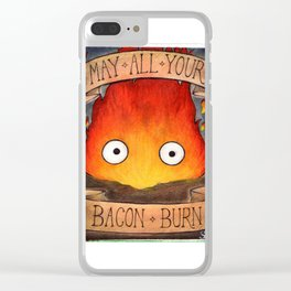 HOWL'S MOVING CASTLE illustration: CALCIFER Clear iPhone Case