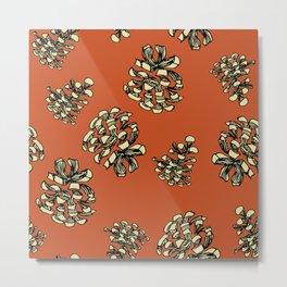 Pine Cone Surface Pattern Design Metal Print