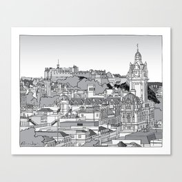 Edinburgh Skyline Canvas Print