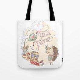 Tea Time with Harriet Hedgehog Tote Bag