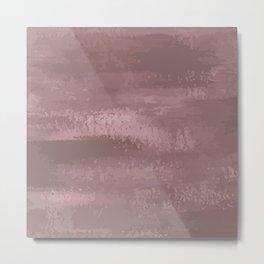Faded Brushstroke - Fawn Brown Metal Print