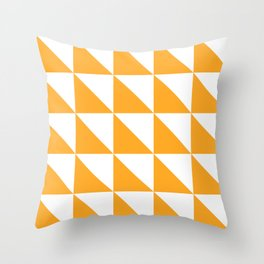 Geometric Pattern 01 Yellow Throw Pillow