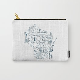 Wisconsin Up North Collage Carry-All Pouch