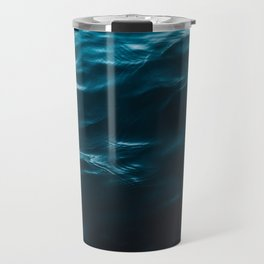 Minimalist blue water surface texture - oceanscape Travel Mug