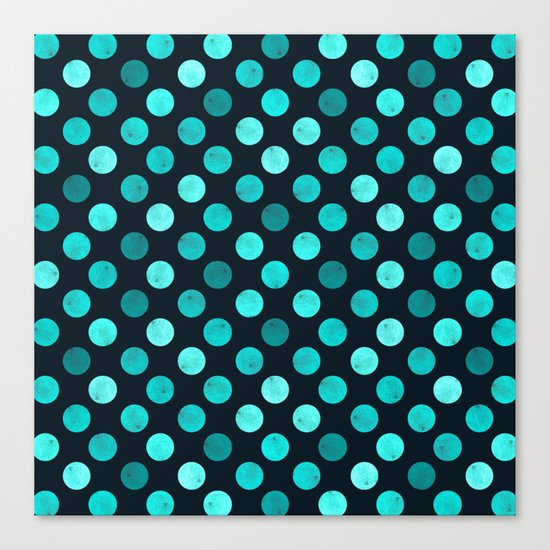 Watercolor Dots Pattern IV Canvas Print