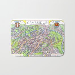 CAMBRIDGE University map ENGLAND Bath Mat