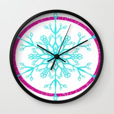 Dream-catching a Snowflake Wall Clock