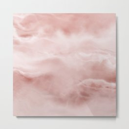 Rose brown Marble texture Metal Print