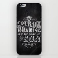 courage iPhone & iPod Skins featuring Courage by JenHoney