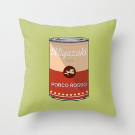 Porco Rosso - Miyazaki - Special Soup Series  Throw Pillow