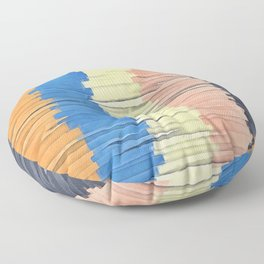Textured Stripes Abstract Floor Pillow