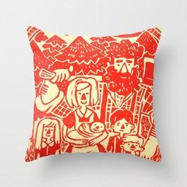 Lumberjack Family Throw Pillow