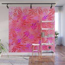 Blush Cannabis Swirl Wall Mural