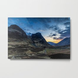 glencoe sunset Metal Print