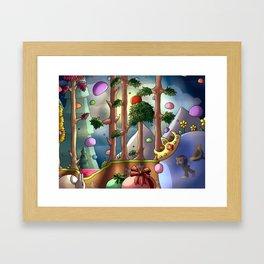 Slime rain- Digital Framed Art Print