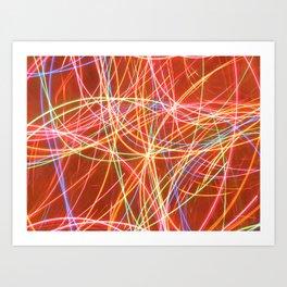 Christmas lights. Art Print