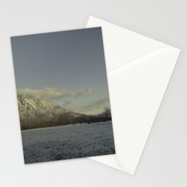 snow elk Stationery Cards