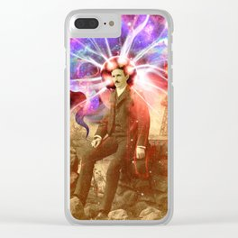Electric Scientist Clear iPhone Case