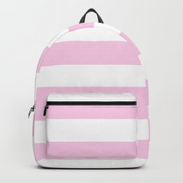 Classic rose - solid color - white stripes pattern Backpack