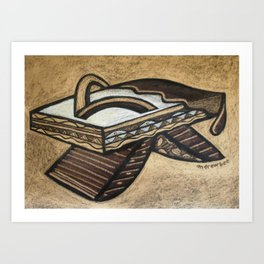 Chocolate Shoes : Biscotti Slippers Art Print