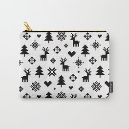 PIXEL PATTERN - WINTER FOREST Carry-All Pouch