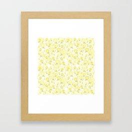 Winnie's Flower Garden Yellow Framed Art Print