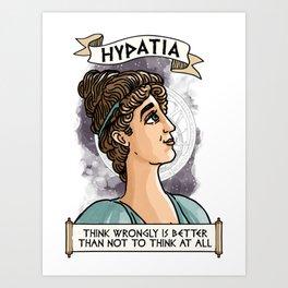 Hypatia of Alexandria Art Print