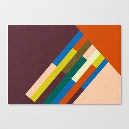 Meridian Orange #homedecor #midcenturymodern #midcentury Canvas Print