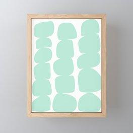 Aqua Stones Framed Mini Art Print