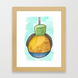 Goofy Caramel Apple Framed Art Print