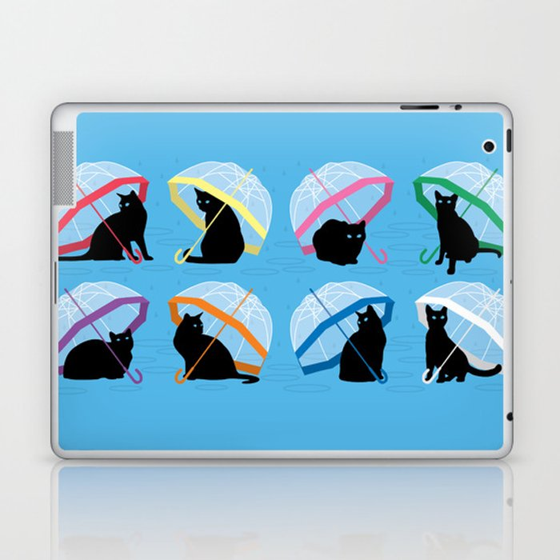 raining cats 'n cats Laptop & iPad Skin