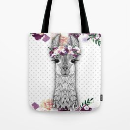 FLOWER GIRL ALPACA Tote Bag